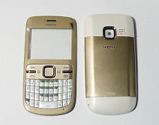 Housing Cover Facia Fascia Faceplate case for nokia C3 gold