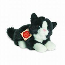 Teddy Hermann Katze 20cm schwarz Plüsch Kuscheltier 30° Kätzchen Geschenk 906896