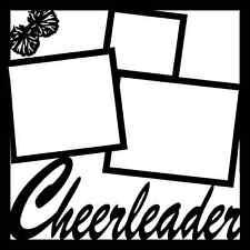 12x12 Cheerleader Template Scrapbook Overlay