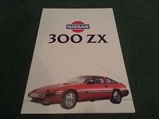 1984 Nissan 300 ZX/300ZX Turbo comentarios de prensa británica Inc Folleto de carpeta