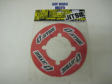 Trials Bike Jitsie Rear Sprocket Sticker Protector. Solid Sprocket. Red. 41-44T