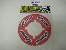 Bicicleta de piñón trasero Jitsie ensayos Adhesivo Protector. sólido Piñón. Rojo. 41-44T