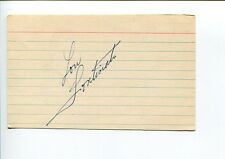 Lou Fontinato NY New York Rangers Montreal Canadiens Legend Signed Autograph
