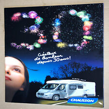 CHAUSSON 2010 TWIST FLASH WELCOME ALLEGRO  ✿ BROCHURE CATALOGUE CAMPING-CAR ✿