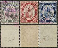 BRITISH GUIANA COURT FEE 1883 REVENUES 48c + 60c + 96c