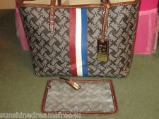 $225 Limited Edition JUICY COUTURE Depp Brown RED CARPET Rare SCOTTIE DOGS Tote