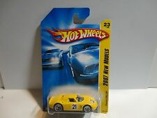 2007 Hot Wheels #23 Yellow Ferrari 250 LM w/Lace Wheels