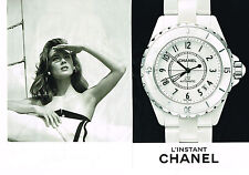 PUBLICITE ADVERTISING 035  2014  CHANEL collection montre  ( 2p)