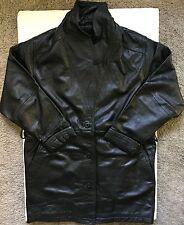 Original Mens Wilsons 'Thinsulate Insulation' Black Leather Jacket Medium