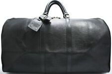 Louis Vuitton EPI KEEPALL 55 Reise Tasche Bag XL RARE Schwarz Black Weekender 1