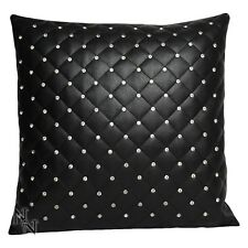 CUSHION RINESTONE GEMS 45CM SQUARE LEATHER LOOK GOTHIC COUTURE NEW NEMESIS NOW