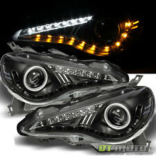 Black 2012-2016 Scion FRS BRZ 86 LED DRL Projector Headlights w/LED Signal Lamps
