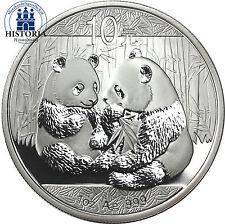 """La Chine 10 yuan argent 2009 stgl. """"grand panda"""" 1 OZ fine silver"""