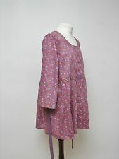 Gudrun Sjoden lagenlook floral print tunic with embroidery organic cotton  XL
