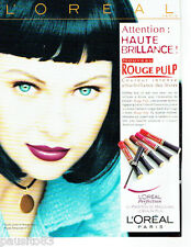 PUBLICITE ADVERTISING 056  1997  L'Oreal  rouge à lèvres Rouge pulp maquillage