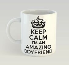 Keep Calm I'M An Amazing Boyfriend Mug Funny Birthday Novelty Gift Valentines