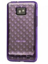 Purple Raindrop TPU Gel Case Back Cover for Samsung Galaxy S 2 Samsung I9100 UK
