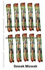10 x Sewak Miswak (Natural Toothbrush) Roots of Tree / Islam Falah Siwak Meswak