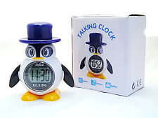 Penguin Talking Digital Alarm Clock For Kids and Blind/Sight Impaired