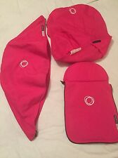 Bugaboo Cameleon 1, 2 &3 Bright Pink Canvas Fabric Set Hood, Apron & Seat Cover