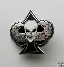 Skull Wings Special Forces Ace Spades Biker Lapel Jacket Hat Pin 1.1 inches