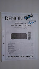 Denon avc-3030 service manual original repair book stereo av surround amplifier