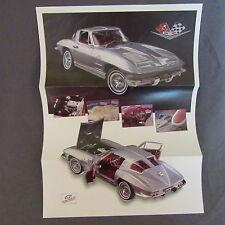 200C Dépliant 27 X 20 Franklin Mint Chevrolet Corvette Fiberglass