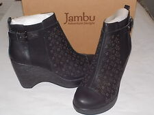 JAMBU Brighton Perforated Platform ANKLE BOOT Bootie, BLACK, 10.0 M $140 - NIB