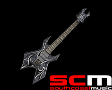 RRP $2299 BC RICH KERRY KING 7 STRING WARLOCK ONYX ELECTRIC GUITAR
