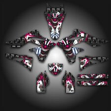 KAWASAKI KX250F KXF 250 2013 GRAPHICS KIT DECALS EVIL JOKER BLACK PINK