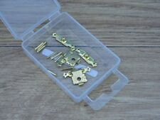 Expo A30031 - 2 x 24mm Small Brass Plated Clasps with Pins - 1st Class Post