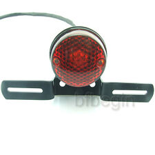 Motorcycle Black Rear license Brake Tail Light For Harley Bobber Chopper Custom