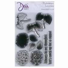 Dali Art A6 Clear Rubber Stamp - Hydrangea Layering