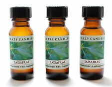 3 Sassafras 1/2oz Premium Grade Scented Fragrance Oil Crazy Candles