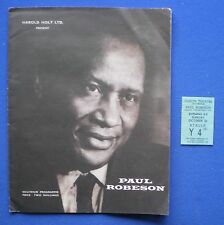 Odeon Theatre Nottingham - Paul Robeson Programme And Ticket Stub - October 1958