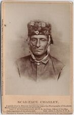 Native American Indian Man Modoc Scar Face Charley 1873 7x5 Inch Reprint Photo
