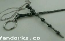 Harry Potter wand keychain/necklace