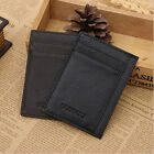 New Genuine Real Leather Slim Thin Credit Card Holder Mini Wallet ID Case