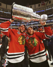 2015 Stanley Cup Champions JONATHAN TOEWS  PATRICK KANE Glossy 8x10 Photo Poster