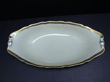 Vintage Hutschenreuther Hohenberg Cream w Gold Encrusted Trim Oblong Relish Tray