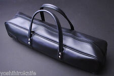 Leather Knife Bag Size Large (Black) Japanese Sushi Chef Tool YOSHIHIRO
