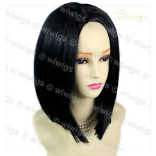 AMAZING FACE Frame Soft Medium Bob Jet Nero Parrucca Donna Pelle Top CAPELLI Wiwigs UK