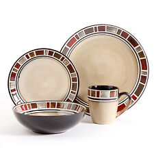 Gibson Elite Cimarron Red and Cream 16-piece Dinnerware Set
