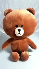"LINE Friends Character Brown Bear 14"" Stuffed Plush Cuddle Toy Bedding US Seller"