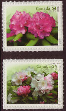 CANADA 2009 RHODODENDRONS SELF ADHESIVE PAIR FINE USED