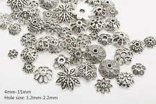 45g (about 150pcs) Mixed  Tibetan Silver Beads Caps Spacer For Jewelry Making