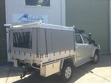 Mitsubishi Triton Canvas Ute Canopy - HARD TOP CHECKERPLATE ROOF ONLY (DUAL CAB)
