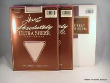 3 Pair Hanes Absolutely Ultra Sheer Pantyhose Travel Buff Barely There Size B