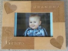 Personalized Laser Engraved 4x6 frame for Grandma's Birthday Christmas Gift