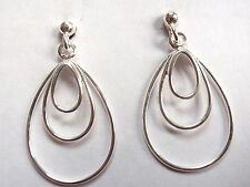 Triple Hoop and Ball Stud Earrings 925 Sterling Silver Corona Sun Jewelry